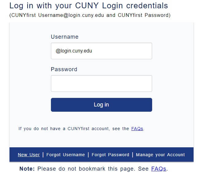 CUNY Blackboard Login