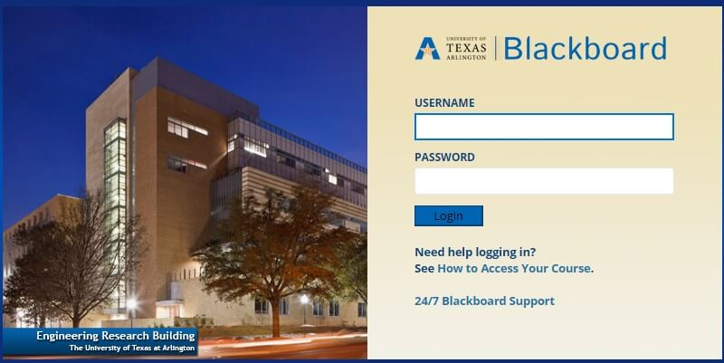 UTA Blackboard Login